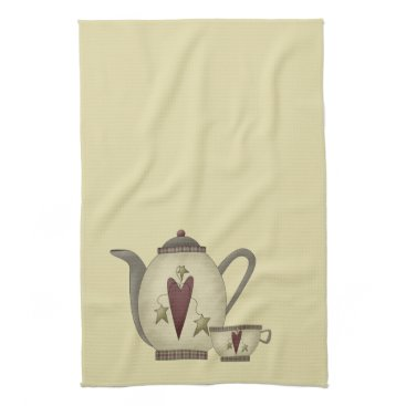 Valentines Themed Teapot and Teacup Towel