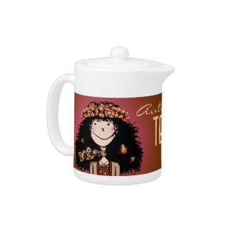 Teapot, Autumn Girl
