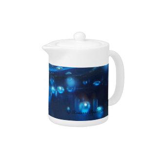 Teapot - Blue Bubbles.  © Roseanne Pears 2012.
