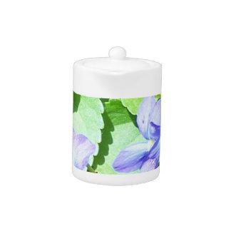 Teapot, Blue Garden Flower Teapot