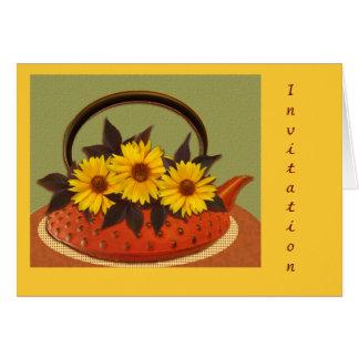 Teapot bouquet card