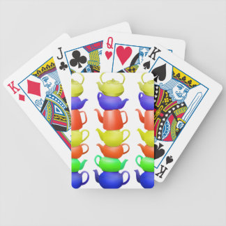 Teapot collection bicycle playing cards