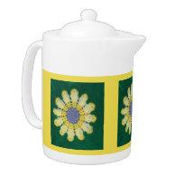 Teapot - Daisy Pattern