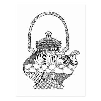 Teapot Doodle Postcard