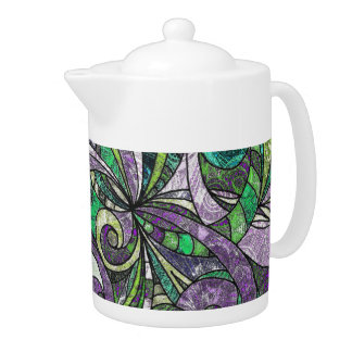 Teapot Drawing Floral