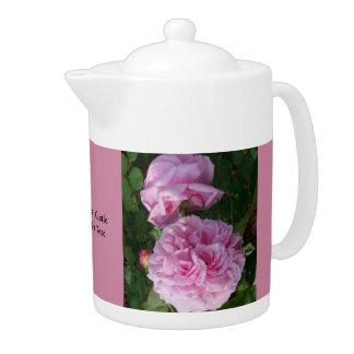 Teapot, ENGLISH ROSE (Bishops Castle) medium size Teapot