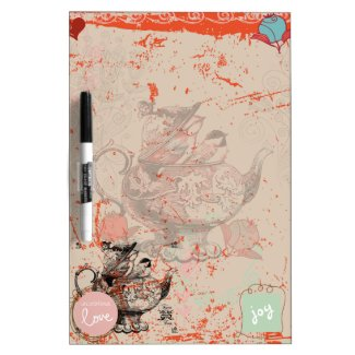 Teapot Fantasy Grunge Dry Erase Board