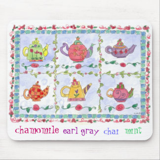 Teapot Flower Sampler Chamomile Mouse Pad