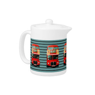Teapot from London with Retro Bus