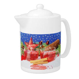 Teapot glad Christmas