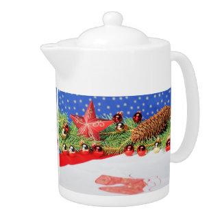Teapot glad Christmas holidays