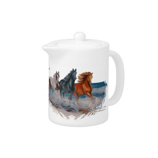Teapot, Horses in the Surf, Run Free! Teapot
