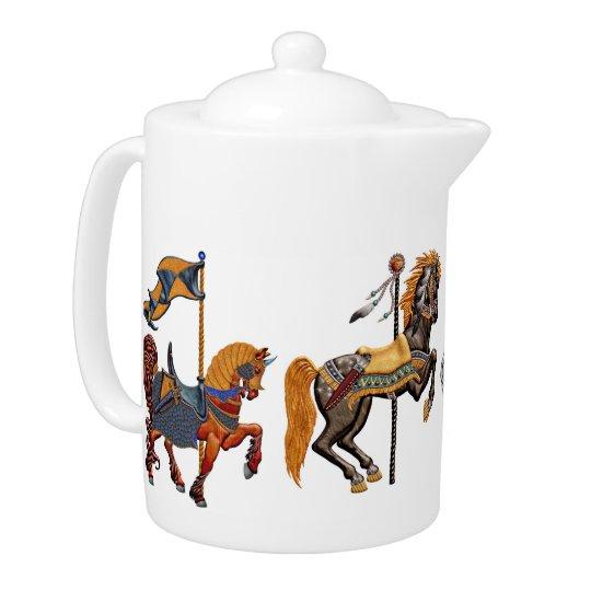 Teapot LG - Carnival Horse Delight