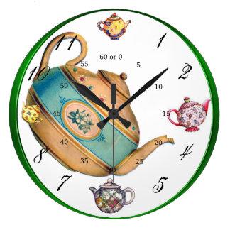 Teapot Melody Large Clock