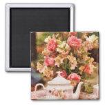Teapot - More tea Milady 2 Inch Square Magnet