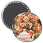 Teapot - More tea Milady 3 Inch Round Magnet