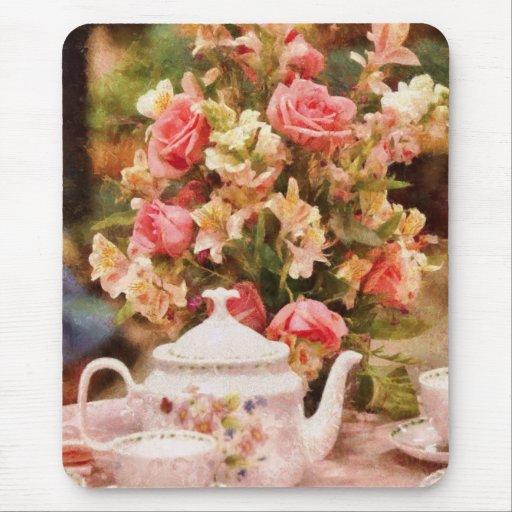 Teapot - More tea Milady Mousepad