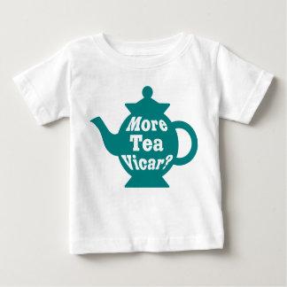 Teapot - More tea Vicar? - Teal and White T Shirt