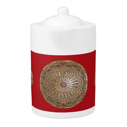 Teapot Morrocon Beauty on Red