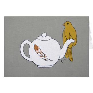 Teapot Perch Card