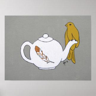 Teapot Perch Print