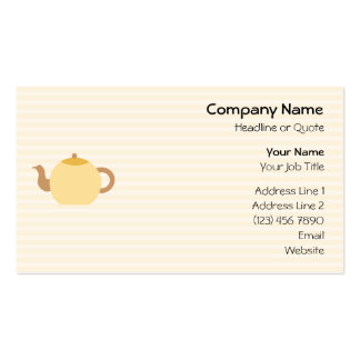 Teapot Picture in Neutral Colors. Double-Sided Standard Business Cards (Pack Of 100)