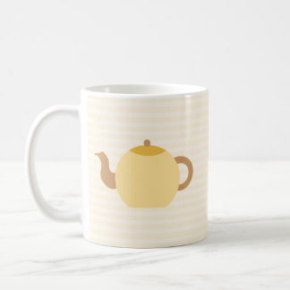 Teapot Picture in Neutral Colors Coffee Mugs