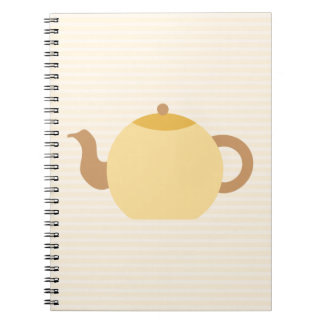 Teapot Picture in Neutral Colors Spiral Notebook