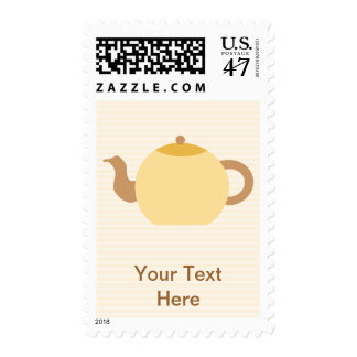 Teapot Picture in Neutral Colors. Stamp