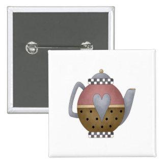 Teapot Pinback Buttons