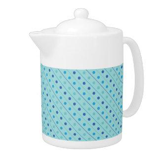 Teapot Polka Dot Blue