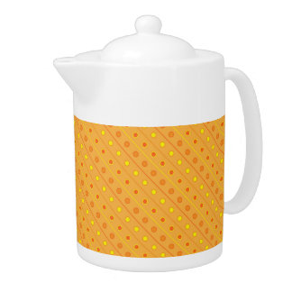 Teapot Polka Dot Yellow and Orange