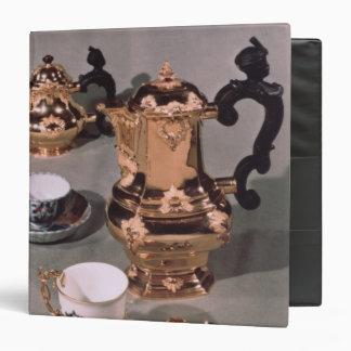 Teapot, sugar bowl, chocolate pot and mug vinyl binders