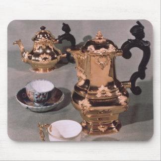 Teapot, sugar bowl, chocolate pot and mug mouse pad