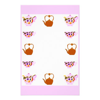 Teapot, Teacup, And Copper Teakettle Stationery