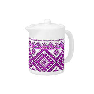 Teapot Ukrainian Embroidery Graphic Print
