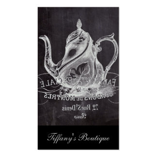 teapot vintage Chalkboard bridal shower tea party Business Card