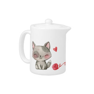 Teapot With Cats at Zazzle