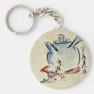 Teapot with cherry or plum blossoms Ukiyoe Key Chains