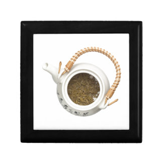 Teapot with chinese tea leaves jewelry box