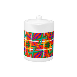 Teapot with Multiple Tropical Colors