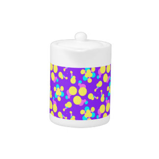 Teapot with Purple and Yellow Design
