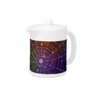 Teapot with spider line and transparent drops