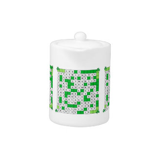 Teapot with St Patrick's Day Crossword