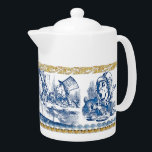 """Teapot - Wonderland<br><div class=""""desc"""">John Tenniel&#39;s timeless wood engraving illustrations live on in our Wonderland series of kitchenware. Here we have four Mad Hatter scenes from Alice in Wonderland by Lewis Carroll on a classic large size teapot. Perfect for that next memorable tea party!   design by Joseph Maas</div>"""
