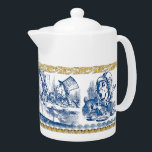 "Teapot - Wonderland<br><div class=""desc"">John Tenniel&#39;s timeless wood engraving illustrations live on in our Wonderland series of kitchenware. Here we have four Mad Hatter scenes from Alice in Wonderland by Lewis Carroll on a classic large size teapot. Perfect for that next memorable tea party!
