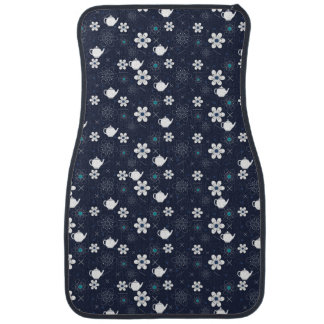 Teapots and Flowers Car Floor Mat