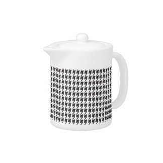 Teapots  |  Black and White Houndstooth