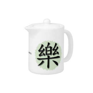 Teapots Chinese Symbol For Happiness On Mat
