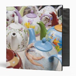 Teapots on sale in Leipzig, Germany Binder